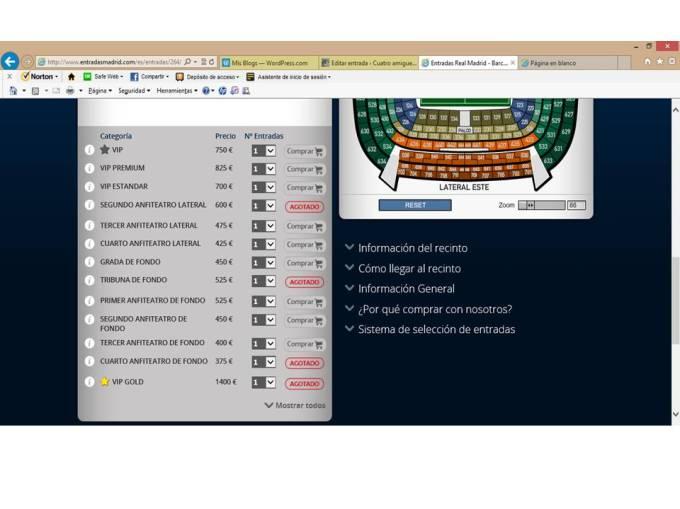 entradas RM-FCB
