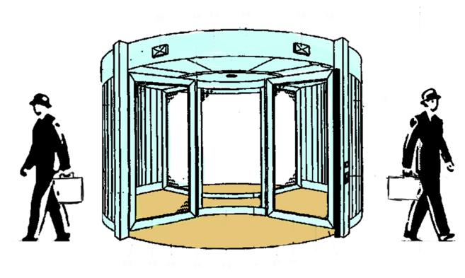 Otras puertas giratorias por josean cuatro amiguetes y for Puerta giratoria