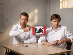 ca. 2008 --- Hugh Laurie and Robert Sean Leonard --- Image by © Justin Stephens/Corbis Outline