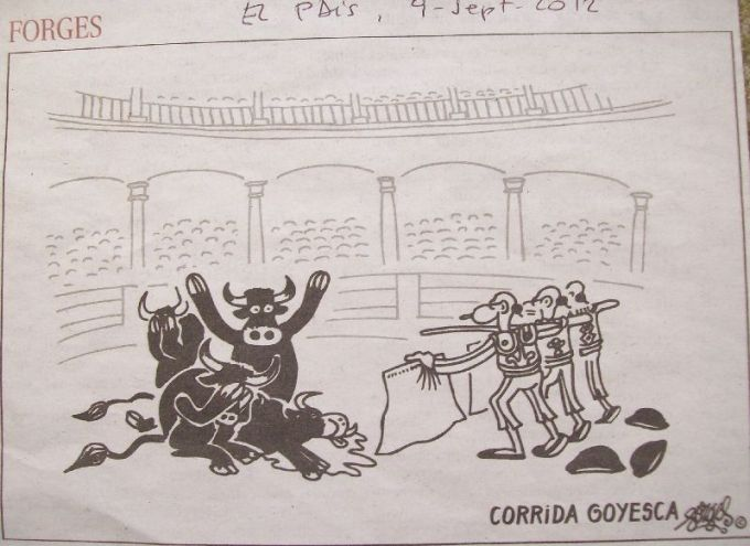 Forges, corrida goyesca