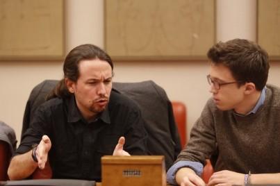 MADRID 01/02/2016 POLITICA Reunion del grupo Podemos en el Congreso encabezado por Iglesias y Errejon FOTO de AGUSTIN CATALAN