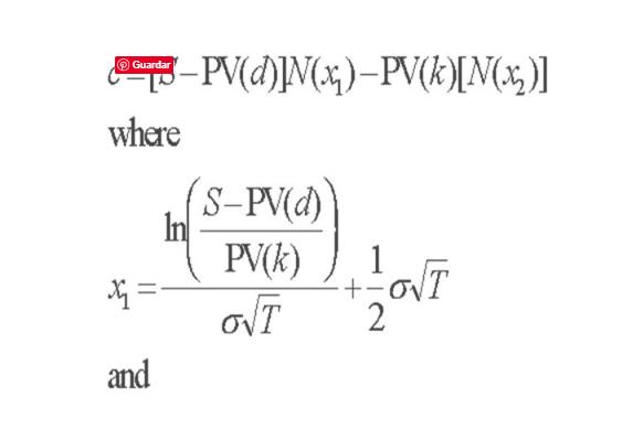 Ecuación Black Scholes