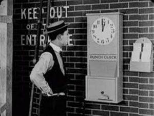 Buster Keaton fichando