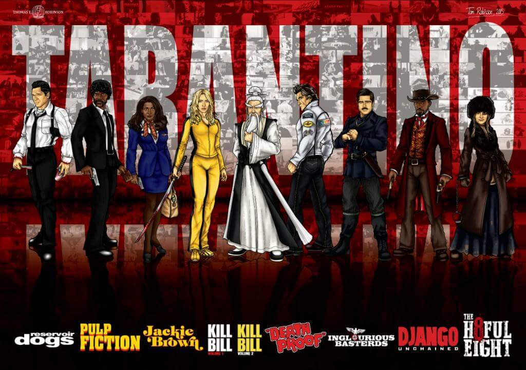 Once personajes de Tarantino