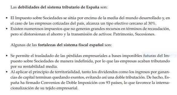Fortalezas y debilidades IS español