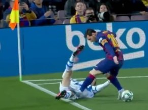 Pisotón Messi