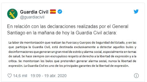 Fake news Guardia Civil
