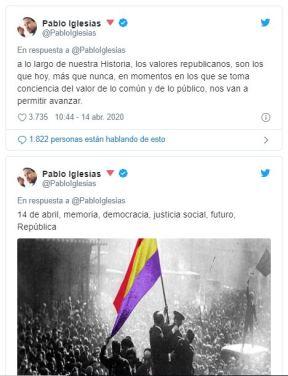 Pablo Iglesias Tuits República 2