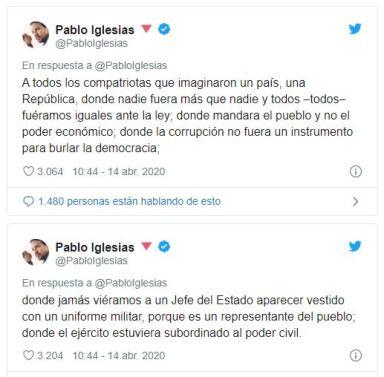 Pablo Iglesias Tuits República