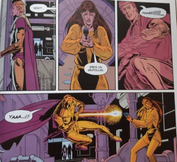 Watchmen disparo cómic